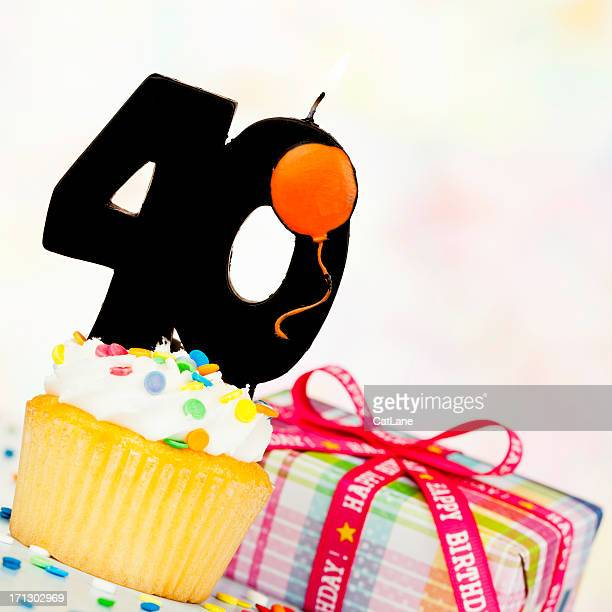 happy 40th birthday - number 40 stock photos and pictures