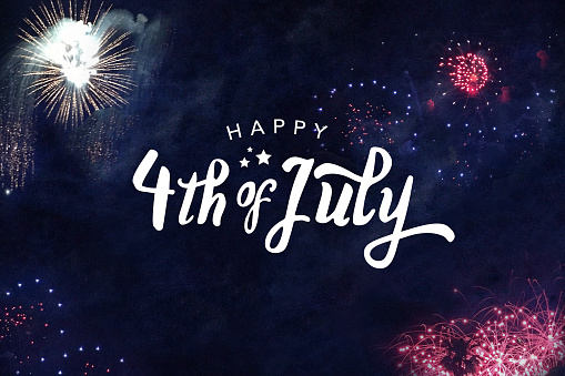 Happy 4th of July Typography 697468814