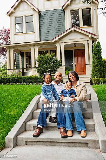Happy African American Family at Home