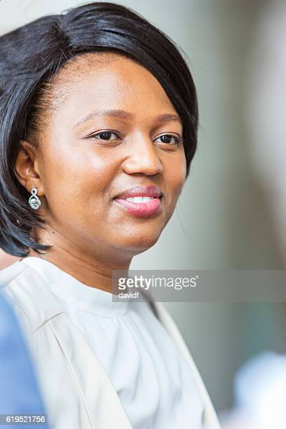 Happy African Corporate Business Woman
