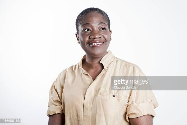 Happy African Lady Smiling