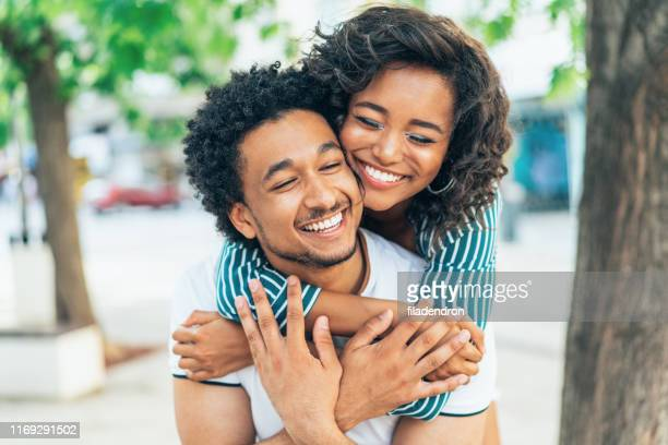 happy afro american couple - falling in love stock pictures, royalty-free photos & images