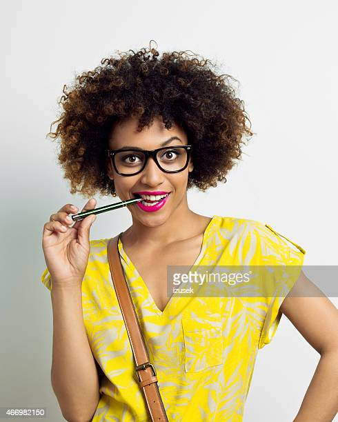 Happy Afro Young Woman