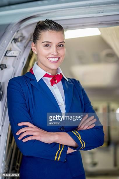 Happy air hostess
