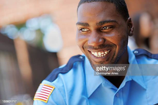 happy american security officer - watchmen stock pictures, royalty-free photos & images