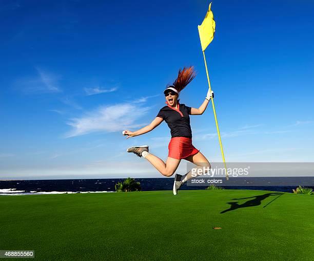 幸せと興奮のゴルファー