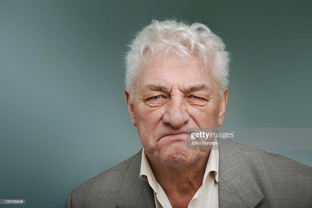 happy and grumpy old men : Stock Photo
