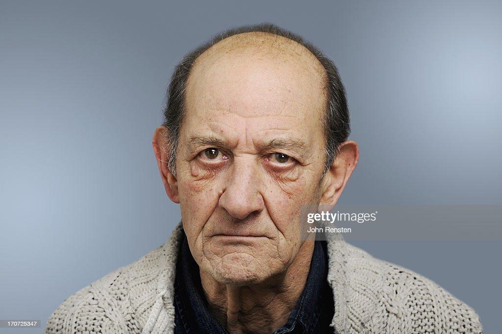 happy and grumpy old men : Stock-Foto
