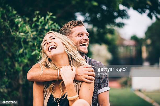 happy and in love - young couple stock pictures, royalty-free photos & images