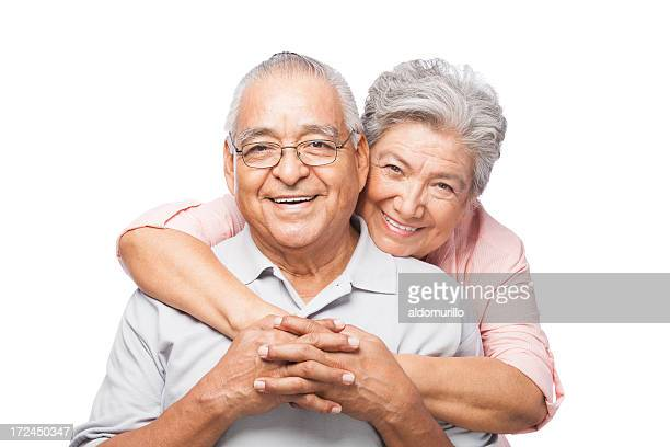 happy and loving senior couple - interracial wife stock pictures, royalty-free photos & images