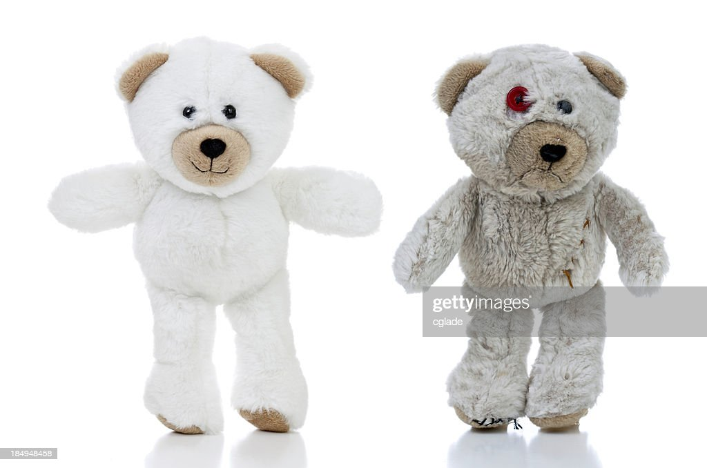 Happy and Sad Bears : Stockfoto