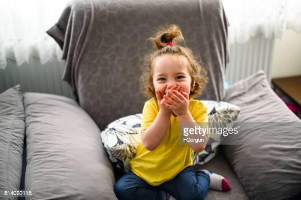 女の幸せと恥ずかしがり屋の赤ちゃん