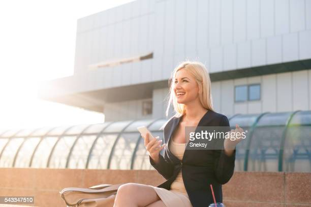 Happy and smiling businesswoman portrait.