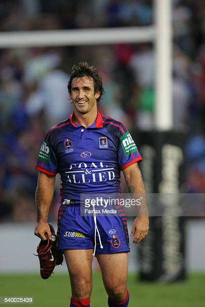 A happy Andrew Johns after the NRL Round 1 match between the Newcastle Knights and the Parramatta Eels at Energy Australia Stadium 11 March 2006 NCH...