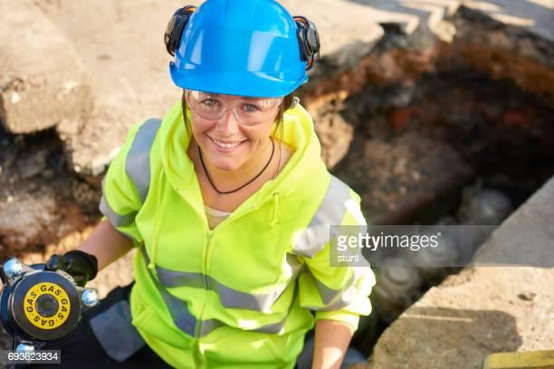 happy apprentice gas engineer