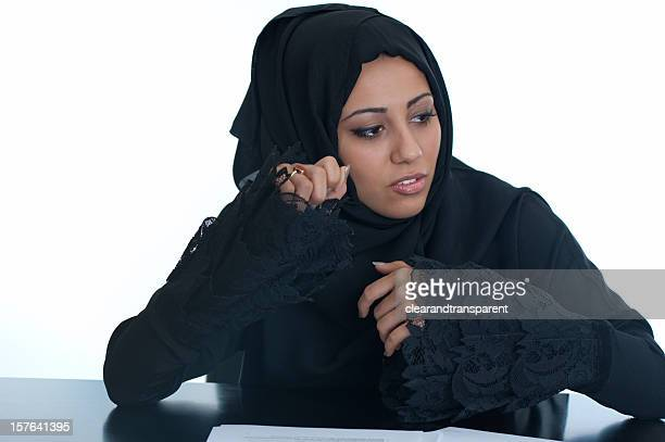 happy arabic office girl - beautiful arab girl stock photos and pictures