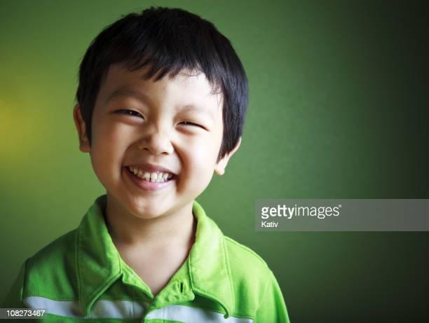 Happy Asian Boy Smiling