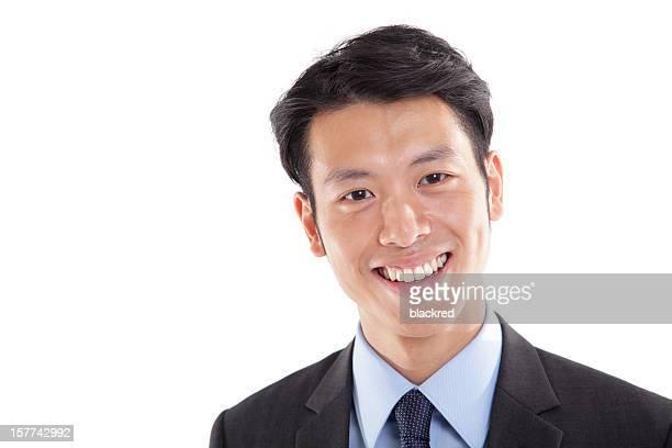 ハッピーなアジアのビジネスマン