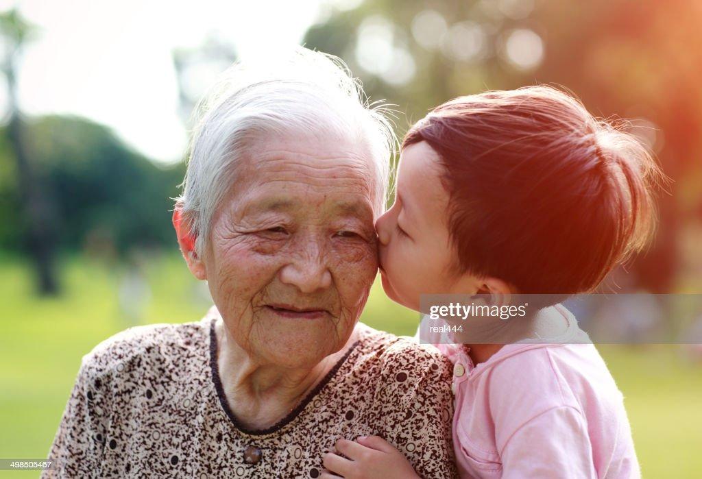 Happy Asian family : Stock Photo