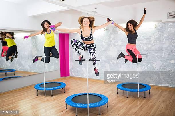 Happy im Fitnessraum