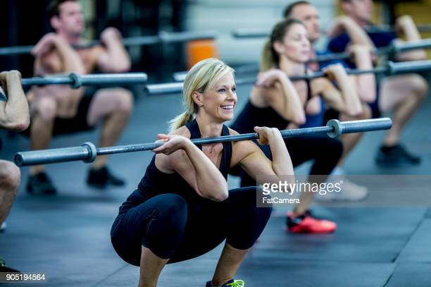 happy at the gym - weight stock pictures, royalty-free photos & images