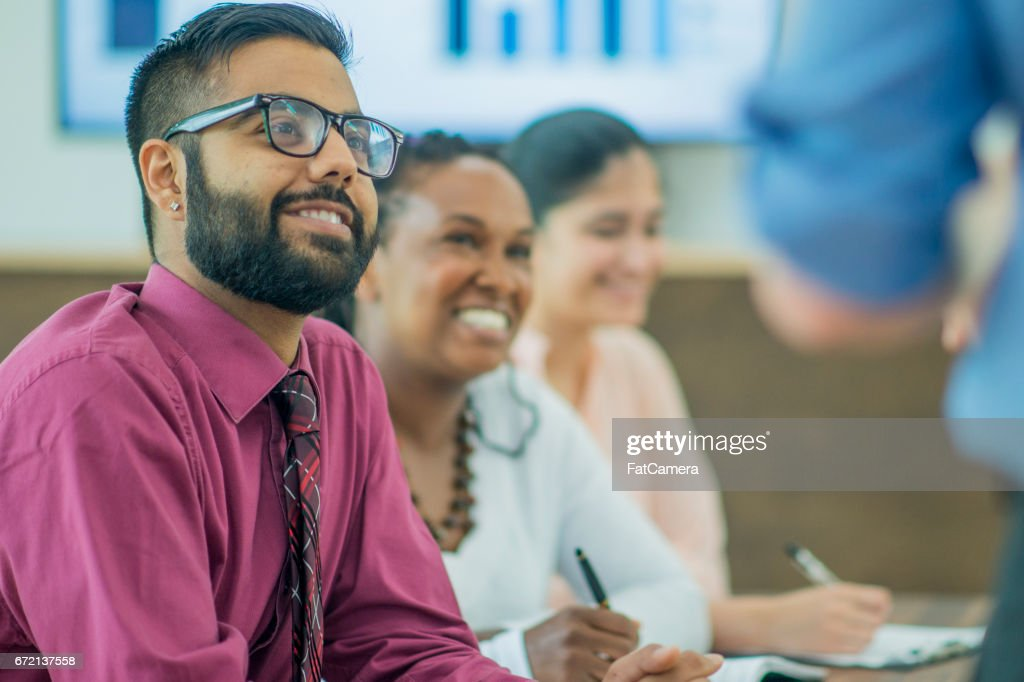 Happy At Work : Stock Photo