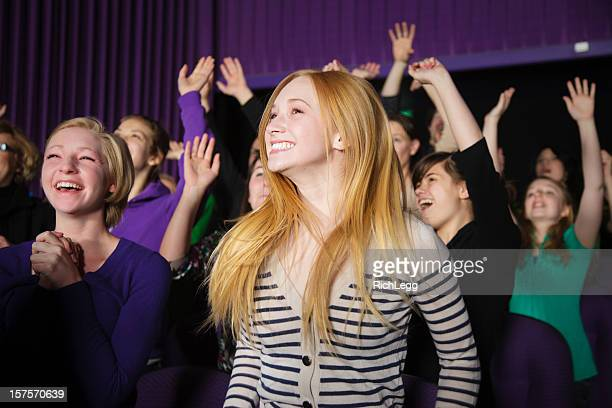 happy audience members - christendom stockfoto's en -beelden