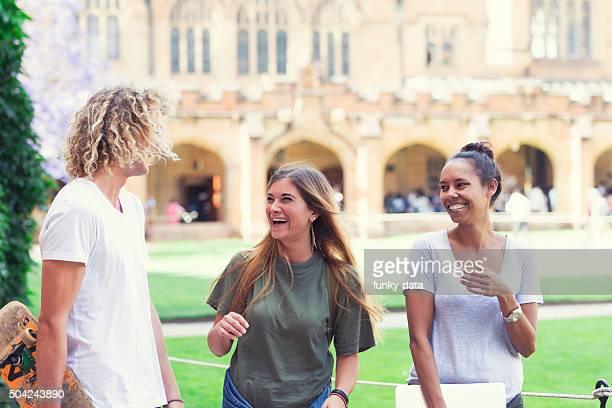 happy australian students - university of sydney stock pictures, royalty-free photos & images