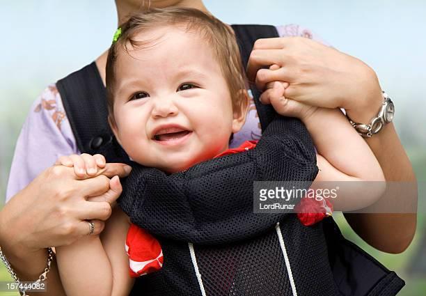 Happy baby-Mädchen