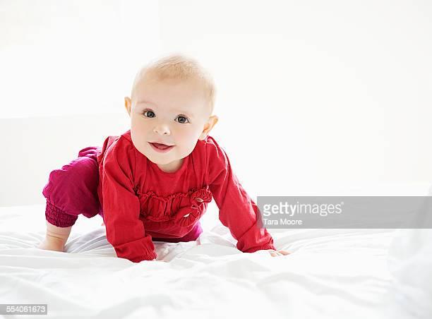 happy baby girl smiling