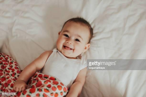 happy baby - baby onesie stock photos and pictures