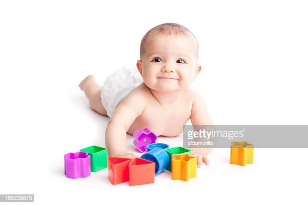 Happy baby jugando