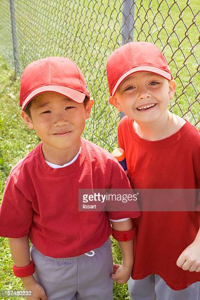 happy baseball boys - baseball team stock pictures, royalty-free photos & images
