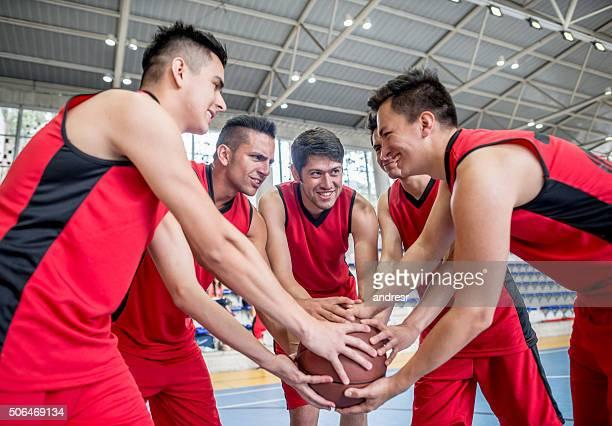 Happy basketball team