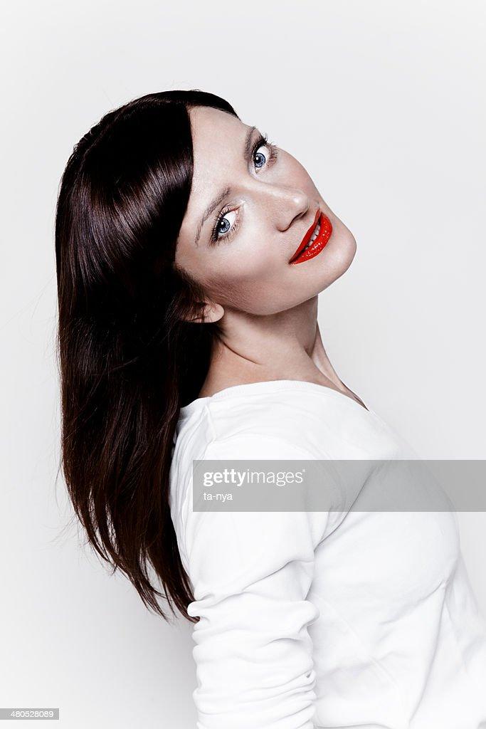 Happy beautiful woman : Stock Photo