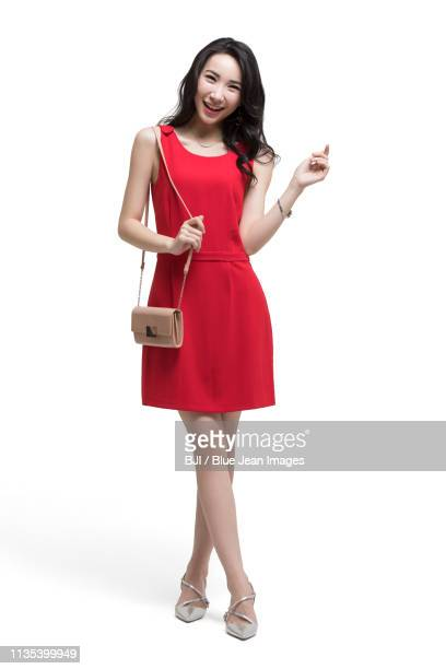 happy beautiful young woman - shoulder bag stock pictures, royalty-free photos & images