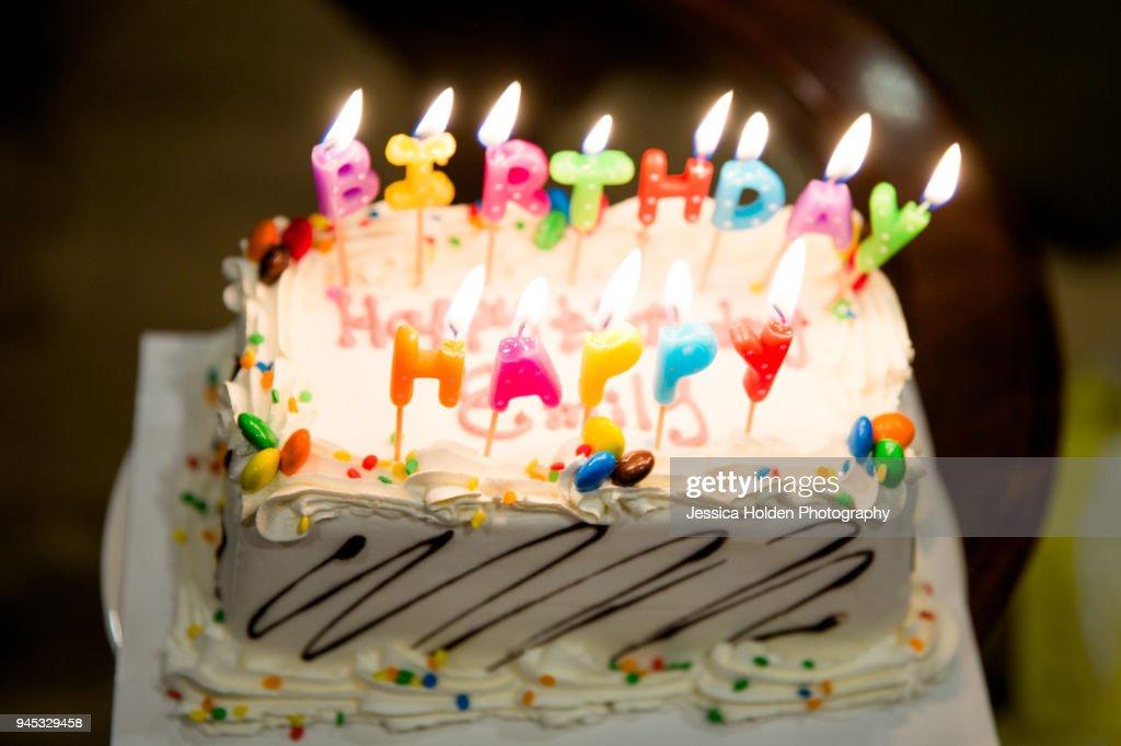 Happy Birthday Cake Stock Foto