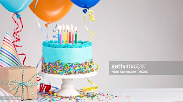 happy birthday candles on birthday cake, ghzibd, india - happy birthday stock pictures, royalty-free photos & images