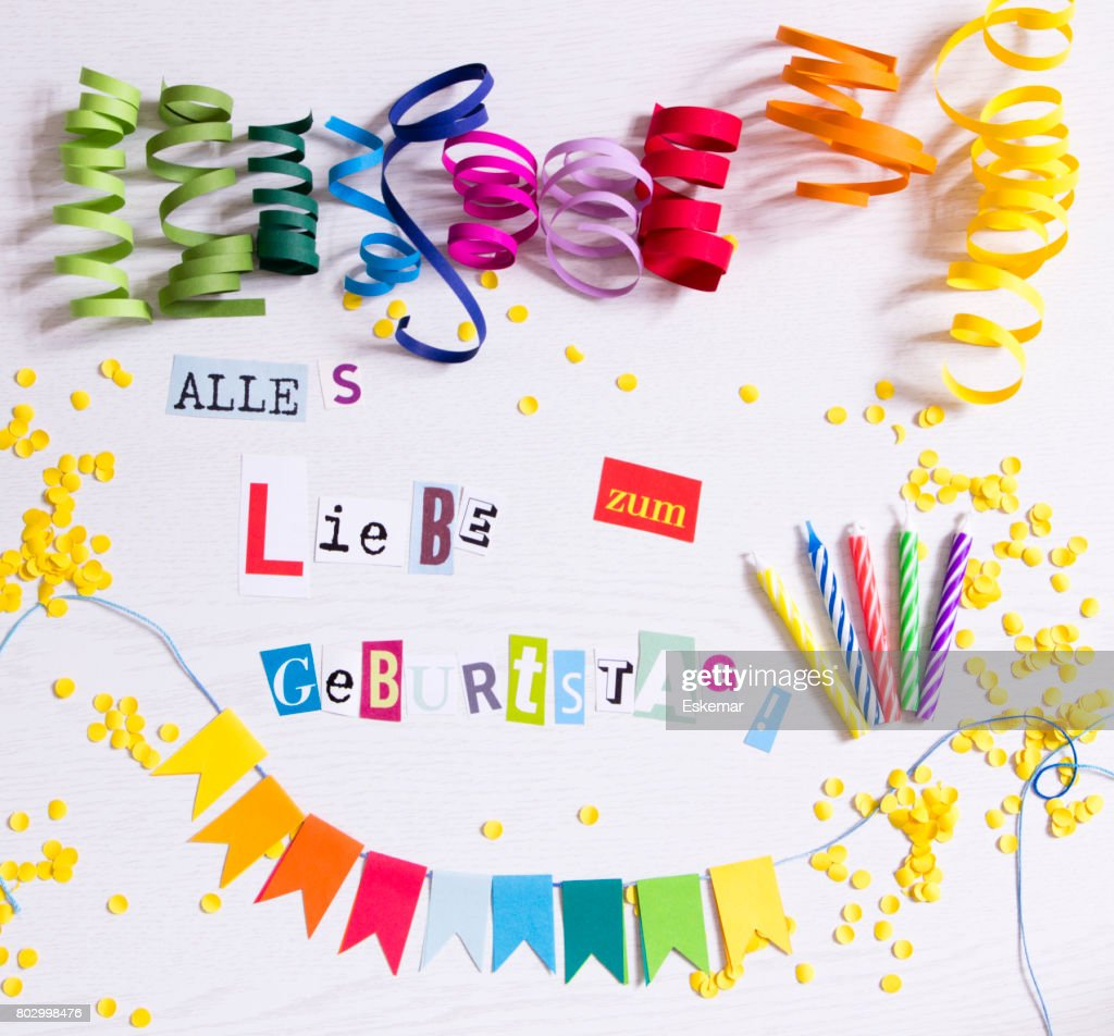 happy birthday in german language stock photo