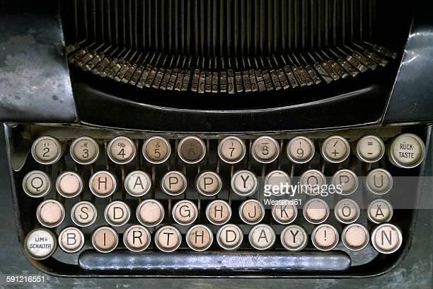 Happy Birthday on old typewriter