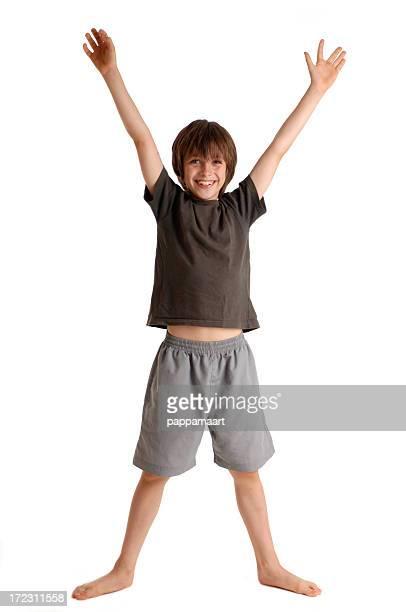 """Happy boy Arme und Beine sich mit einem """"X"""""""