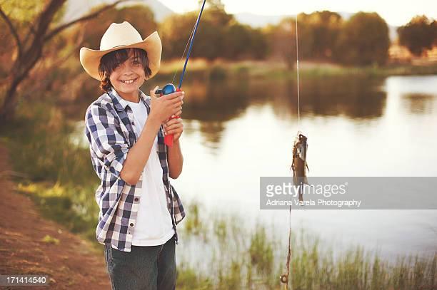 Happy Boy Fishing