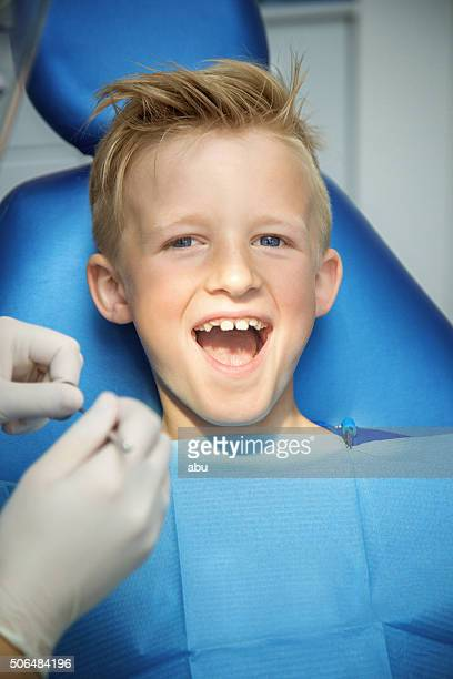 Happy boy in the dental chair