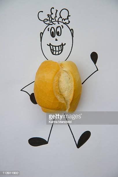 Happy bread roll