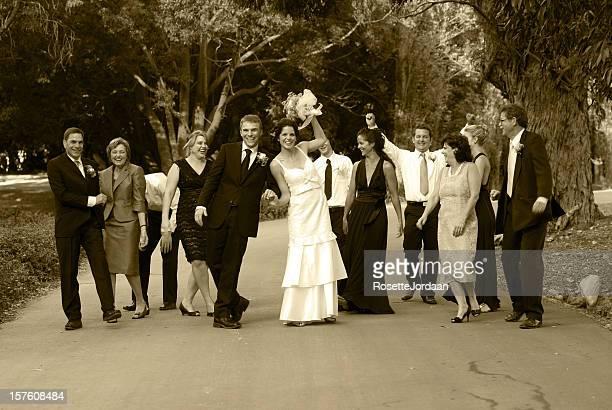 Glückliche Braut Familie
