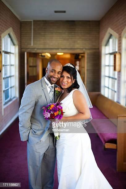 Happy Bride and Groom Portrait