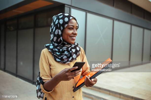 happy business woman - islam stock pictures, royalty-free photos & images