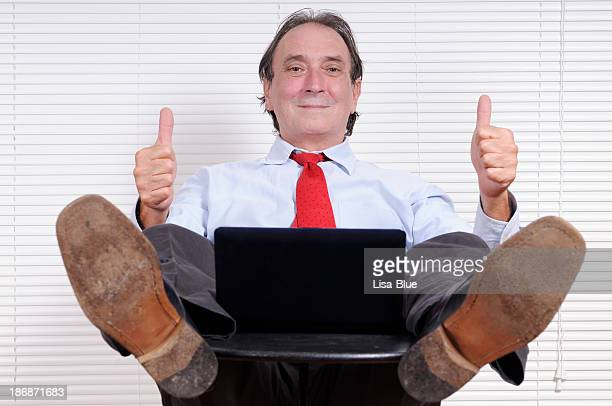 happy businessman giving ok - soles pose stock pictures, royalty-free photos & images