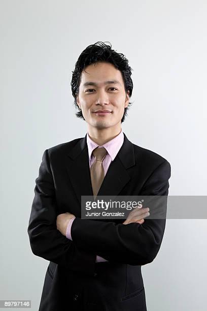 A happy businessman, portrait