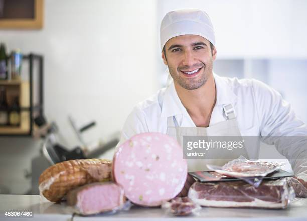 Happy butcher